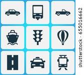 transportation icons set.... | Shutterstock .eps vector #655016662