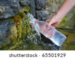 Source Of Spring Water Bottle...