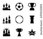 set of 9 championship filled... | Shutterstock .eps vector #655022005