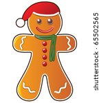 vector gingerbread cookie | Shutterstock .eps vector #65502565