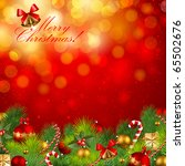 christmas background with... | Shutterstock .eps vector #65502676