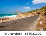 road along the turquoise sea... | Shutterstock . vector #655031302