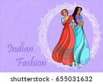 indian fashion set. vector... | Shutterstock .eps vector #655031632