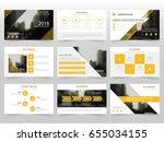 yellow infographic elements... | Shutterstock .eps vector #655034155