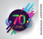70 years anniversary logo with... | Shutterstock .eps vector #655034596