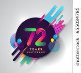 72 years anniversary logo with... | Shutterstock .eps vector #655034785