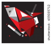 vector of triangle geometric 3d ... | Shutterstock .eps vector #655035712
