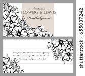 vintage delicate invitation... | Shutterstock . vector #655037242