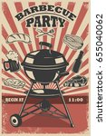 barbecue party flyer template.... | Shutterstock .eps vector #655040062