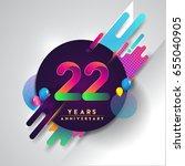 22nd years anniversary logo... | Shutterstock .eps vector #655040905