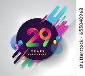 29th years anniversary logo... | Shutterstock .eps vector #655040968