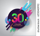 30th years anniversary logo... | Shutterstock .eps vector #655040992