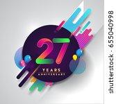 27th years anniversary logo... | Shutterstock .eps vector #655040998