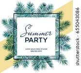 summer party banner vector... | Shutterstock .eps vector #655043086