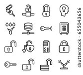 lock icons set. set of 16 lock... | Shutterstock .eps vector #655043656