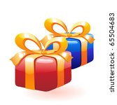 christmas gifts. | Shutterstock .eps vector #65504683