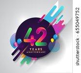 42nd years anniversary logo... | Shutterstock .eps vector #655049752