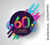 60th years anniversary logo... | Shutterstock .eps vector #655049995