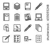notebook icons set. set of 16... | Shutterstock .eps vector #655055248