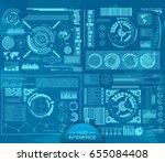 abstract future  concept vector ... | Shutterstock .eps vector #655084408