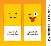 smiley faces design elements.... | Shutterstock .eps vector #655085446
