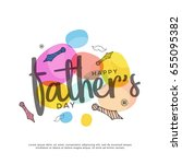 illustration of happy fathers... | Shutterstock .eps vector #655095382