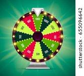 shining wheel of fortune.... | Shutterstock .eps vector #655096642