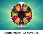 shining wheel of fortune.... | Shutterstock .eps vector #655096648