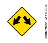 new zealand road sign   lane...   Shutterstock .eps vector #655110016