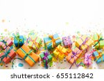 Colored Gift Boxes With...