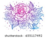 Hand Drawn Beautiful Roses....