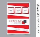 flyer template. business... | Shutterstock .eps vector #655117558