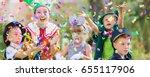 enthralled children playing... | Shutterstock . vector #655117906