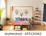 ethnic spacious colorful... | Shutterstock . vector #655124362