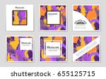 abstract vector layout... | Shutterstock .eps vector #655125715