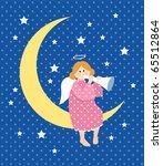 angel and moon | Shutterstock .eps vector #65512864