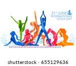 illustration of woman doing... | Shutterstock .eps vector #655129636