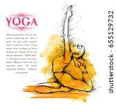 illustration of woman doing... | Shutterstock .eps vector #655129732