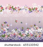 Floral Pattern On Seamless...