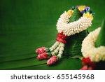 thai traditional jasmine...   Shutterstock . vector #655145968