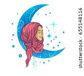 muslim illustration | Shutterstock .eps vector #655148116