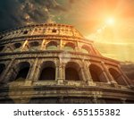 rome  italy.one of the most... | Shutterstock . vector #655155382