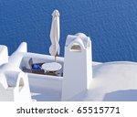 Terrace View In Santorini