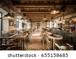 caffe bar interior in wooden | Shutterstock . vector #655158685