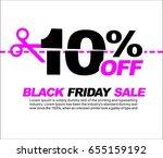 10  off black friday sale ...   Shutterstock .eps vector #655159192