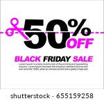 50  off black friday sale ... | Shutterstock .eps vector #655159258