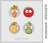 carrot  turnips  zucchini ...   Shutterstock .eps vector #655161676