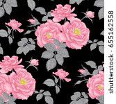 vintage floral seamless... | Shutterstock . vector #655162558