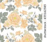 vintage floral seamless...   Shutterstock . vector #655162585