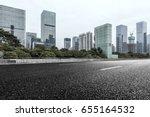 empty downtown street... | Shutterstock . vector #655164532